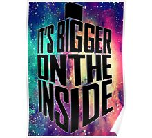 Bigger on the inside - Dark Poster