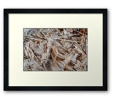 Winter's Patterns on the Beach Framed Print