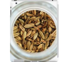 Aromatic Exotic Striped Indian Cuisine Fennel Seeds in Jar iPad Case/Skin