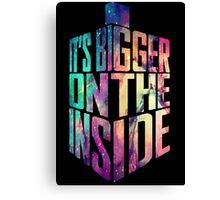Bigger on the inside - Galaxy Canvas Print
