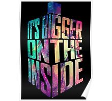 Bigger on the inside - Galaxy Poster