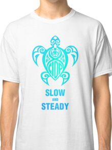 CIDP Green Blue Slow & Steady Turtle Classic T-Shirt