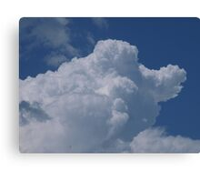 Old father time riding in the clouds Canvas Print