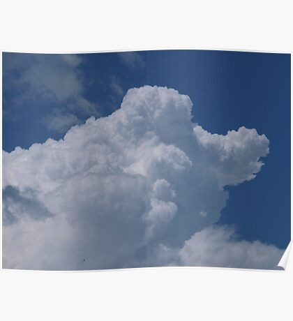 Old father time riding in the clouds Poster