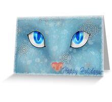 Snowy Eyes Christmas Card Greeting Card