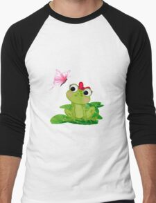 Cute Girl Frog Men's Baseball ¾ T-Shirt