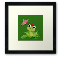 Cute Girl Frog Framed Print