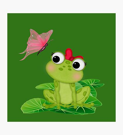 Cute Girl Frog Photographic Print