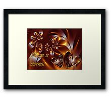 Love Is Eternal Card Framed Print