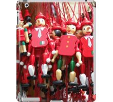 Colourful Red Toy Puppets in Prague Market Square iPad Case/Skin