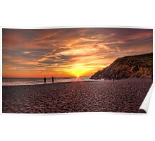 Sunset at Rodeo Beach, Marin Headlands Poster