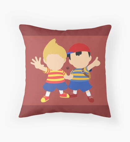 Ness & Lucas (Red) - Super Smash Bros. Throw Pillow