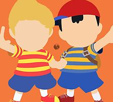 Ness & Lucas (Orange) - Super Smash Bros. by samaran