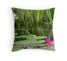 Water Lillies- Nusa Dua, Bali Throw Pillow