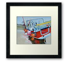 Early Dawn, Fishing Boat, Staithes Framed Print