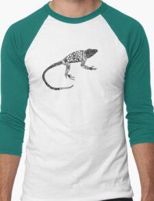 just lizards black white Men's Baseball ¾ T-Shirt