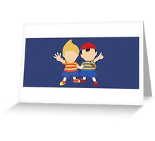 Ness & Lucas (Blue) - Super Smash Bros. Greeting Card