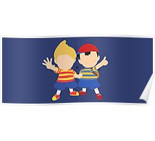 Ness & Lucas (Blue) - Super Smash Bros. Poster