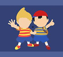 Ness & Lucas (Blue) - Super Smash Bros. by samaran