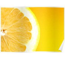 Healthy Fresh Bright Yellow Citrus Grapefruit Slice Poster