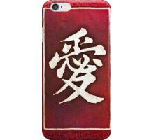 Chinese characters of LOVE on red iPhone Case/Skin
