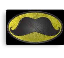 Mustache Man - Funny Comic Hero Icon Canvas Print