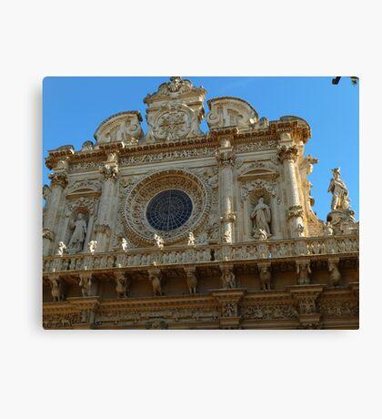 façade of the basilica di Santa Croce Canvas Print