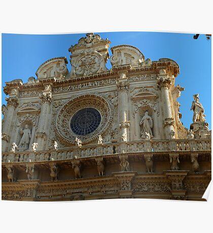 façade of the basilica di Santa Croce Poster