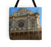 façade of the basilica di Santa Croce Tote Bag
