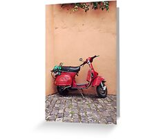 Retro red Scooter Greeting Card