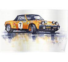 Porsche 914-6 GT Rally Poster