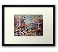 Hallowe'en Comes to Town Framed Print