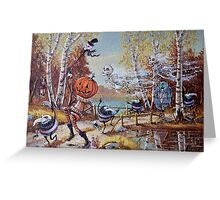 Hallowe'en Comes to Town Greeting Card