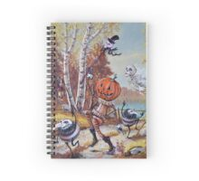 Hallowe'en Comes to Town Spiral Notebook