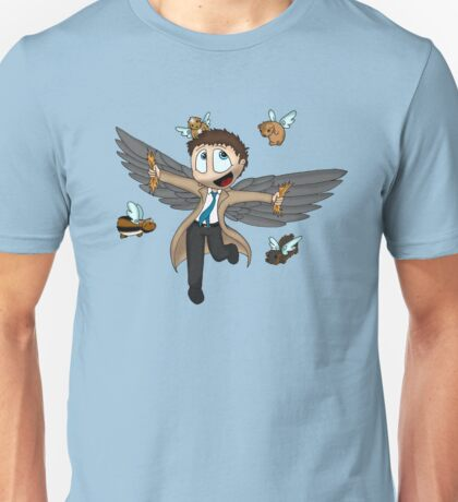 Castiel and the flight of the guinea pigs Unisex T-Shirt