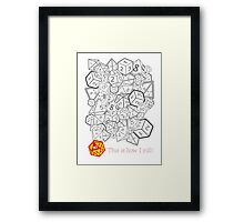 D&D (Dungeons and Dragons) - This is how I roll! [WHITE] Framed Print