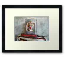 Barber - Always keep it clean Framed Print