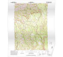 USGS Topo Map Oregon Andies Prairie 278844 1995 24000 Poster