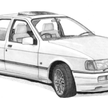 Ford Sierra Sapphire RS Cosworth Sticker