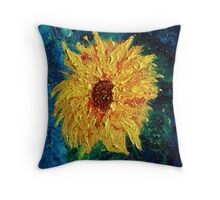 Sunflower - Tribute to Van Gogh Throw Pillow
