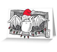Santa Bat Greeting Card