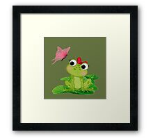Cute Girl Frog 2 Framed Print