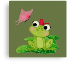 Cute Girl Frog 2 Canvas Print
