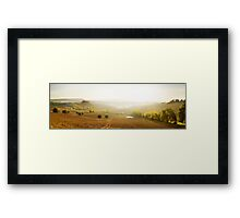 Val D'Orcia panorama, Tuscany Framed Print