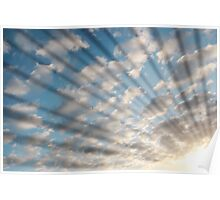 blue sun rays Poster