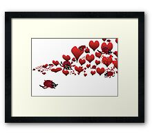 bugged by love bugs Framed Print