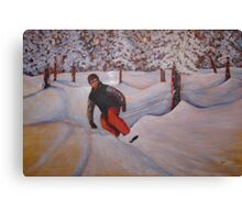 Snow Boarding 60x40 Acrylic Canvas Print
