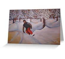Acrylic - Snow Boarding 60x40 Greeting Card