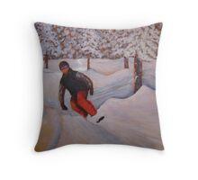 Snow Boarding 60x40 Acrylic Throw Pillow