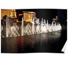The Bellagio's Dancing Fountain Poster